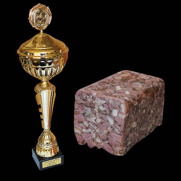 1er prix Au Fil du Couteau pour son Fromage de tête