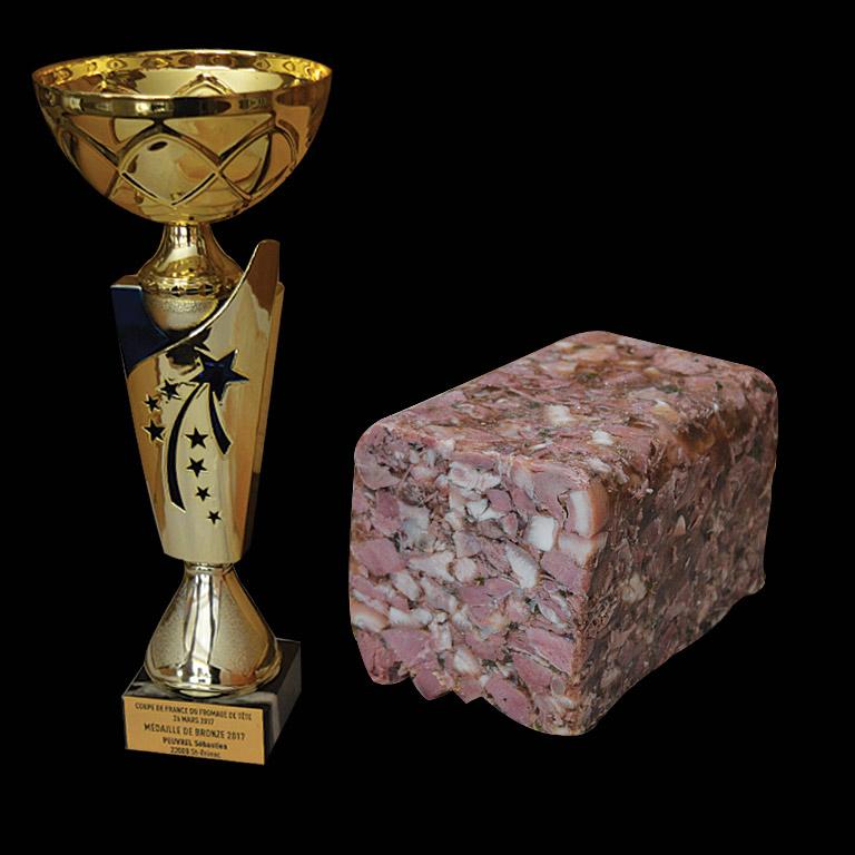 Au Fil du Couteau a reçu la Médaille de Bronze pour son fromage de tête