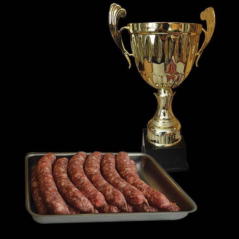 Au Fil du Couteau a reçu le Prix International pour ses Saucisses à l'Oignon