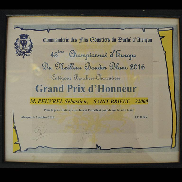 Au Fil du Couteau - Grand Prix d'honneur-Boudin Blanc