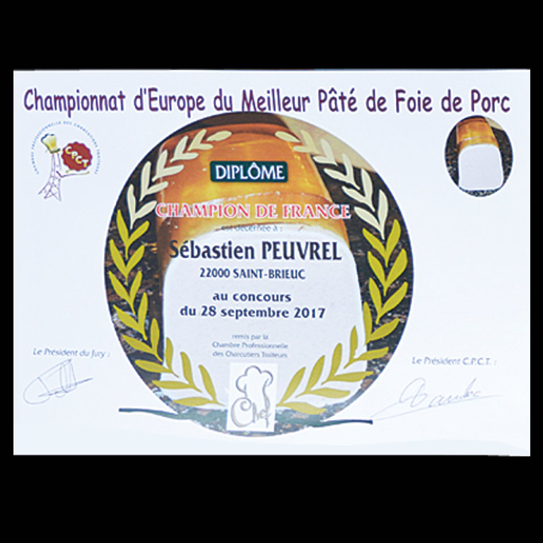 Au Fil du Couteau est champion de France avec son pâté de foie de porc