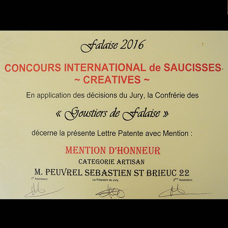 Prix international pour la Saucisse créative Au Fil du couteau
