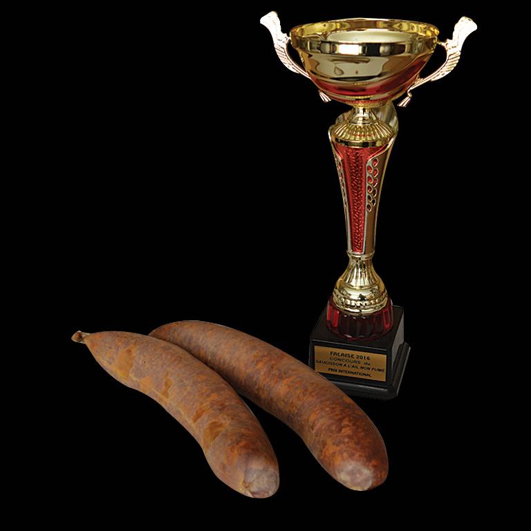 Au Fil du couteau - Prix d'honneur international pour son saucisson à l'ail fumé