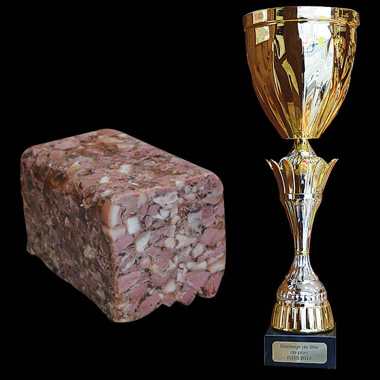 Au Fil du Couteau a reçu le 1er prix National pour son Fromage de tête