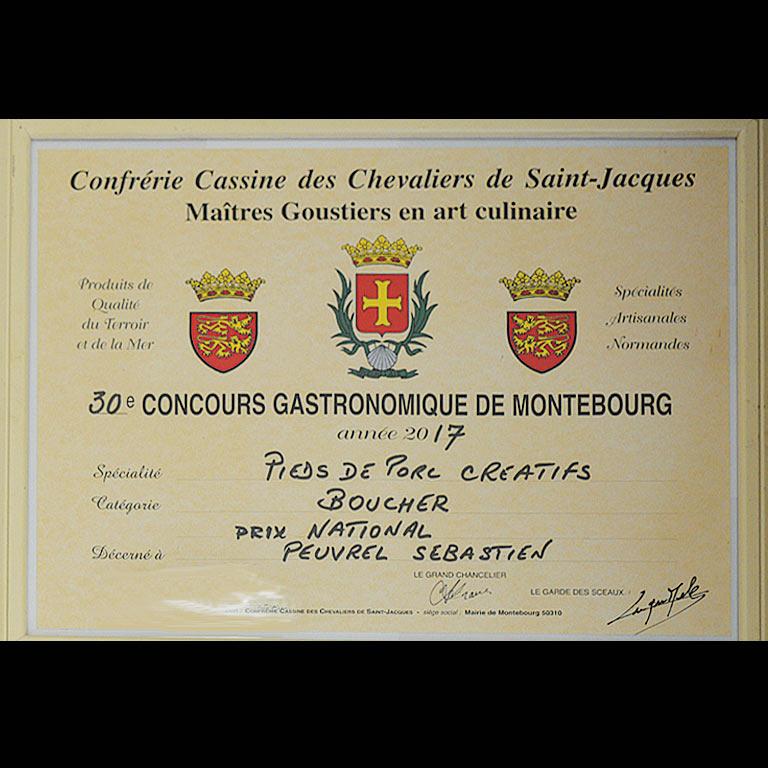 Au Fil du Couteau a reçu le Prix National pour ses Pieds de porc créatifs