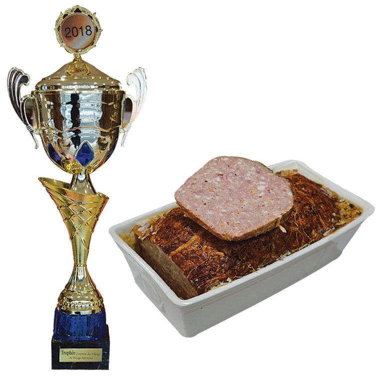 Au Fil du Couteau a reçu le Trophée de la confrérie pour son Pâté à l'ail