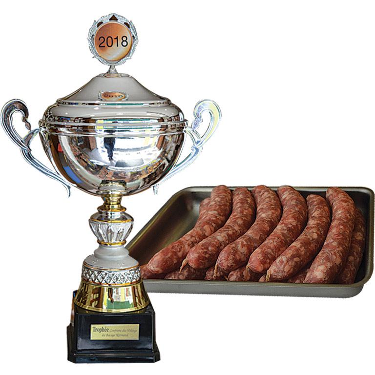 Au Fil du Couteau a remporter le 1er prix pour ses saucisses à l'oignon à St-Hilaire du Harcouët