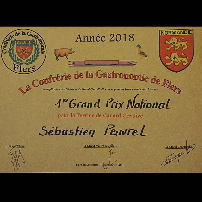 Au Fil du Couteau a reçu le 1er Grand Prix national pour sa terrine de canard créative